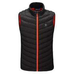 Electric Vest USB Heated Cloth Jacket Winter Windproof Body Black Red,4XL
