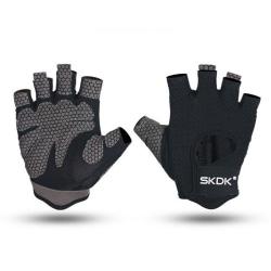 Half Finger Gloves Fitness Sports Gym Breathable Non-Slip black,L
