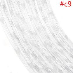Heart String Fringe Curtain Sheer Panel Door Divider White,100x200cm
