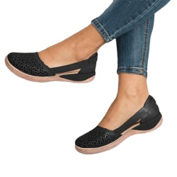 Ladies Baotou hollow sandals summer breathable and lightweight Black,42