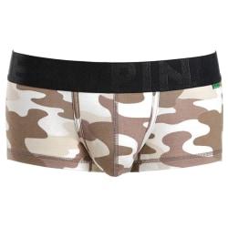 Men's cotton camouflage printed short boxer underwear Desert Camouflage,XL