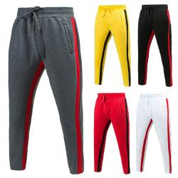 Men's Elastic Waist Closure Sweatpants Casual Pants black,L