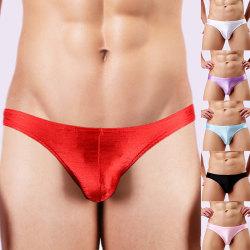 Men's lightweight breathable brushed briefs Pink,XL