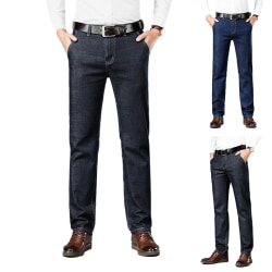 Men's Tencel Business Casual Straight Jeans Blue,40