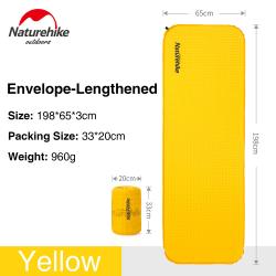 Self-inflating Camping Mattress Air Mat Moisture-proof Pad Yellow Envelope Lengthened