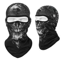 Skull Sports Motorcycle Bike Balaclava Sun Mask Hood Hat Helmet Sword Skull