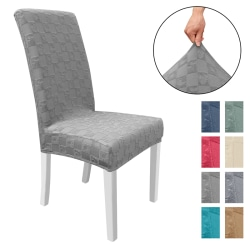 Solid Stretch Chair Cover Dining Room Seat Cover Wedding Banquet Dark Gray