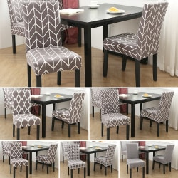 Stretch Cover Dining Chair Wedding Banquet Slipcover Removable Grey03
