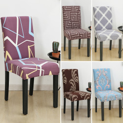 Stretch Dining Chair Cover Removable Slipcover Washable Covers #4 Brown Flower