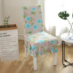 Stretch Dinning Chair Covers Removable Banquet Home Decor Blue Pink Floral