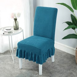 Stretch Thickened Dinning Chair Cover Removable Home Decor Dark Green
