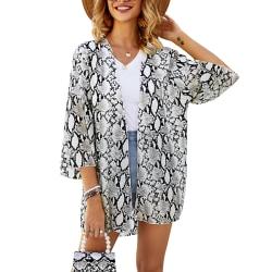 Super Value-Women-Kimono&Cardigan&Top&Blouse-Floral&Boho&Beach Leopard,S