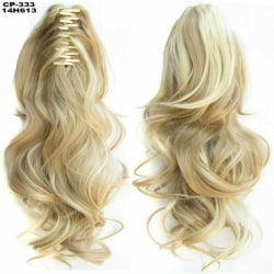 Synthetic Claw Ponytail Long Wavy Curly Clip Hair Extension Ash Blonde