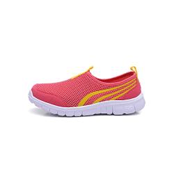 Unisex children casual flat wear resistant sneakers Watermelon Red,32