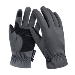 Unisex Gloves Touch Screen Windproof Rainproof Cycling Grey L