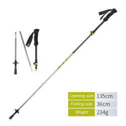 Walking Stick 5-Section Foldable Trekking Pole Adjustable Green