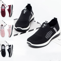 Women Breathable Sneakers Athletic Outdoor Low Tube Sports Shoes Black,40