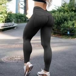 Women High Waisted Yoga Leggings Sports Push Up Pants Running Black,XL