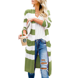 Women Long Sleeve Casual Knitted Sweater Cardigan Jacket Top Green,XL