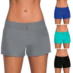 Women's Boyshorts Briefs Swim Shorts Bikini Bottoms Boardshorts Black,XXL