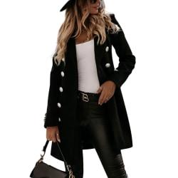 Women's Casual Blazer Long Sleeve Winter Formal Office Jacket black,XL