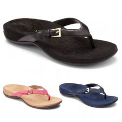 Women's flip flop solid color slippers open back light sandals Black,41