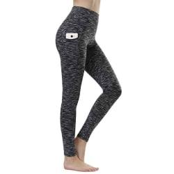 Women's High Waist Stretch Yoga Pants Sweatpants Gray,M