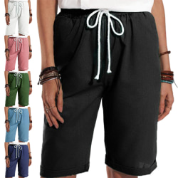 Women's Shorts Trunks Casual Loose Straight Leg Short Pants White,XXL