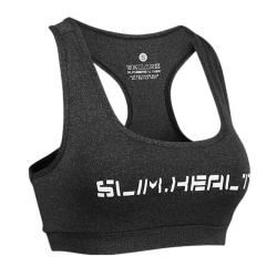 Women's Sports Bra Yoga Tight Running Stretch Vest Racerback Cationic dark gray,L