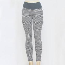 Women Yoga Pants Anti-Cellulite Leggings Sports Fitness Trousers Gray,L