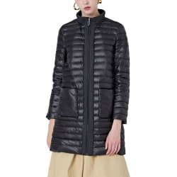 Womens down jacket stand collar long coat to keep warm in winter black,3XL