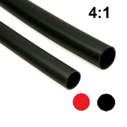 Krympslang - krympfaktor  4:1 - svart och röd