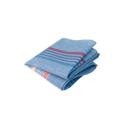 SPARA 50.00 TOLV-pack blå arbetsnäsdukar av ren bomull.
