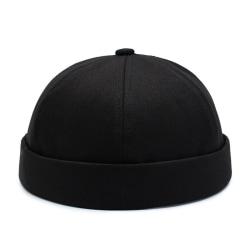 Scullcap Kockmössa Svetsarkeps utan skärm svart