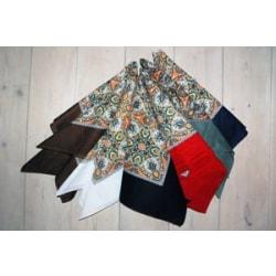Röd Blå Svart 3-pack STORA gammaldags paisley snusnäsdukar