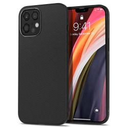 Greppvänligt skal till iPhone 12 / 12 Pro - Wavy Comfort svart