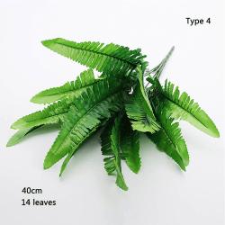 1 bukett Artificial Turtle Leaves Simulation Green Plant 4