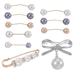 10st konstgjord pärla fjäril-knut brosch