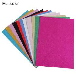 10ST Inslagningspapper Hantverk Papper A4 Glitterkort MULTICOLOR