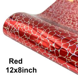 12x8inch 12x20inch självhäftande vinylrulle holografisk sten red 12x8inch
