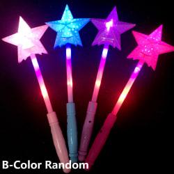 1st LED-blinkande ljus-upp lysande stick glödande leksaker B-FÄRG