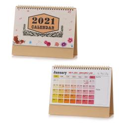 2021 Kalender Desk Kalender Desktop Standing Flip GRADIENT