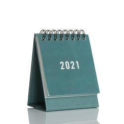 2021 Kalender Desk Kalender Desktop Standing Flip GRÖN