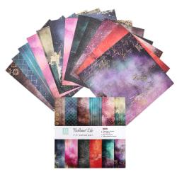 24 ark kartong pappersplatta klippbok papper härlig trädgård