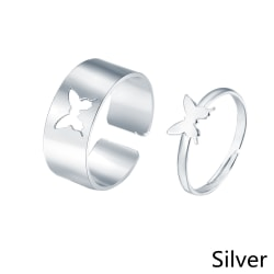 2st Butterfly Ring Hollow SILVER silver
