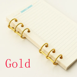 2st Spiralring Notebook Binder Loose Leaf Ring GULD