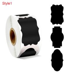 300st / rulle Etiketter Klistermärken Blackboard Etikett Flaskmärken STYLE1