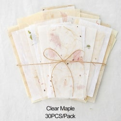 30PCS Scrapbooking Tissue Paper Special Material CLEAR MAPLE clear maple