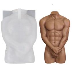 3D kropps silikonform Resin mögel HANN MAN Male