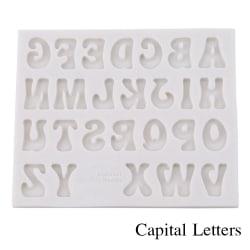 3D-bokstäver Silikonform Alfabetnummer KAPITALBREV